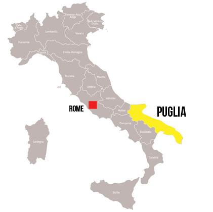 Southern Italy Puglia Walking tour map