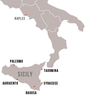 Sicily small group tour map